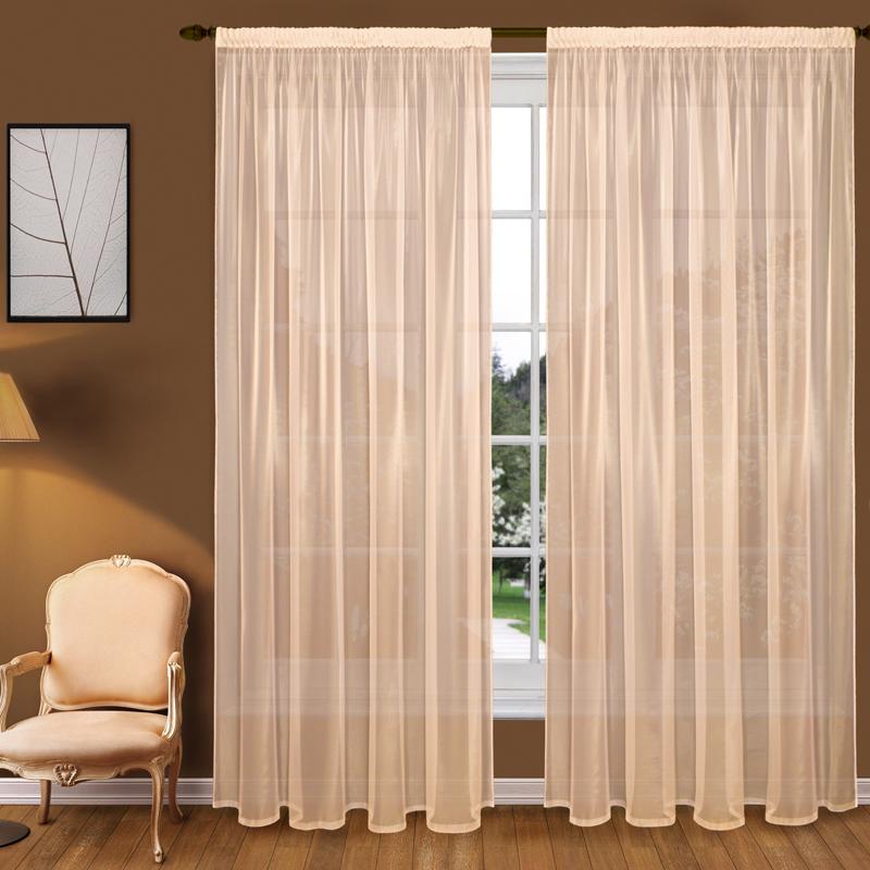 Шторы Elegante Классические шторы Туман Цвет: Персиковый шторы tac классические шторы winx цвет персиковый 200x265 см