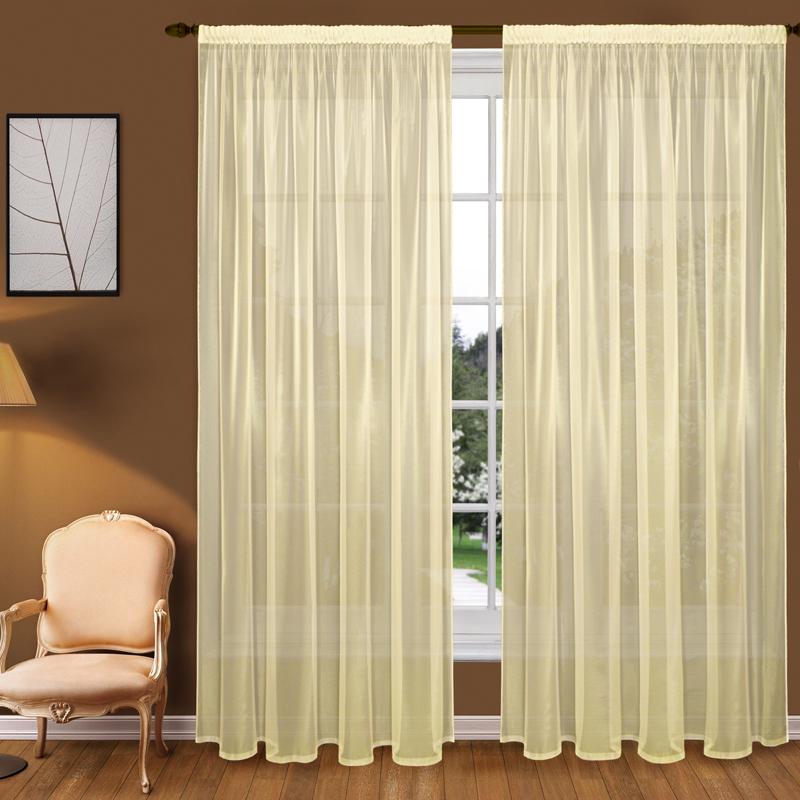 Шторы Elegante Классические шторы Туман Цвет: Желтый шторы tac классические шторы winx цвет персиковый 200x265 см