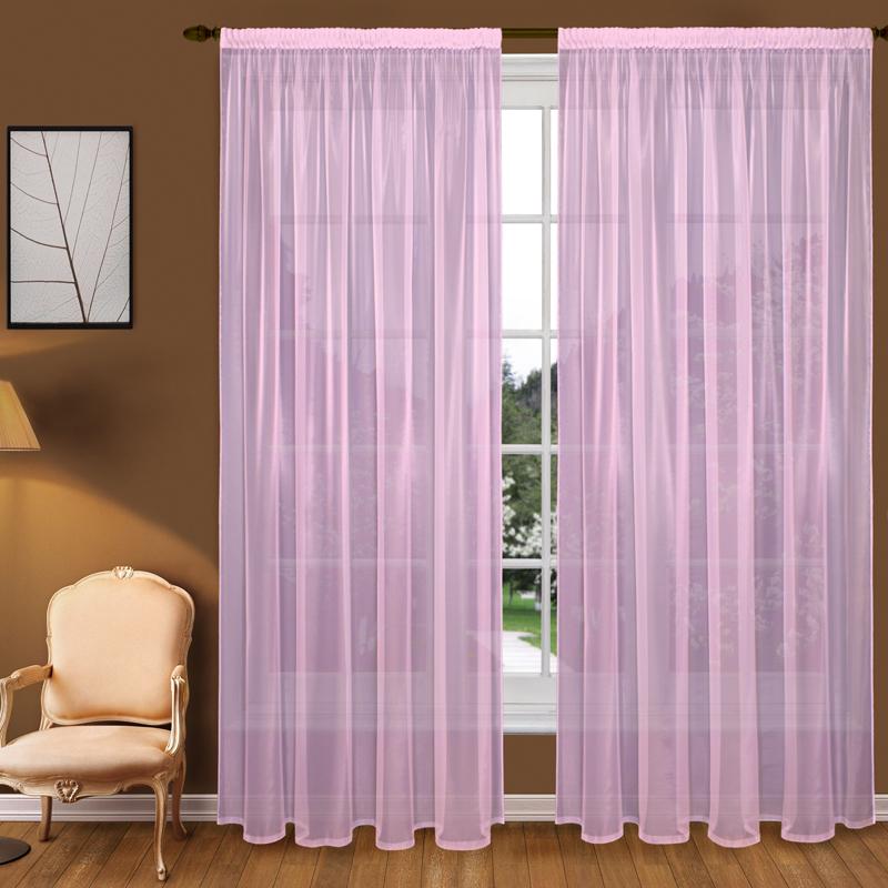 Шторы Elegante Классические шторы Туман Цвет: Сиреневый шторы tac классические шторы winx цвет персиковый 200x265 см