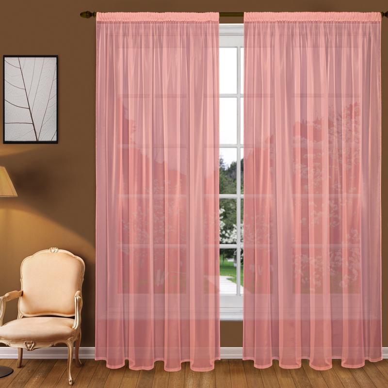 Шторы Elegante Классические шторы Туман Цвет: Коралловый шторы tac классические шторы winx цвет персиковый 200x265 см
