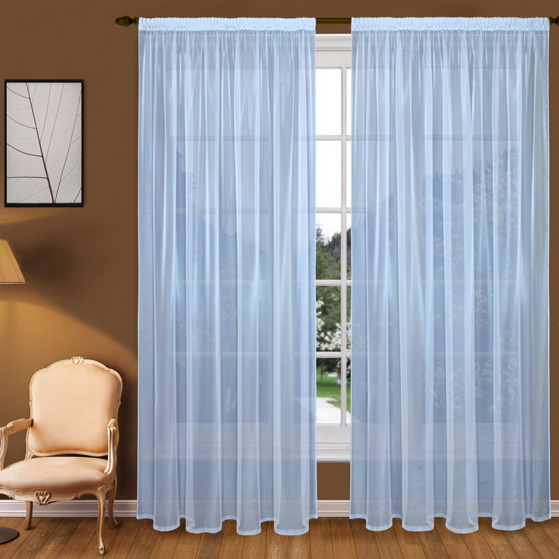 Шторы Elegante Классические шторы Туман Цвет: Голубой шторы tac классические шторы winx цвет персиковый 200x265 см