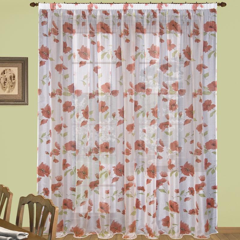 Шторы Elegante Классические шторы Маки Цвет: Красный шторы primavera классические шторы maev цвет персиковый