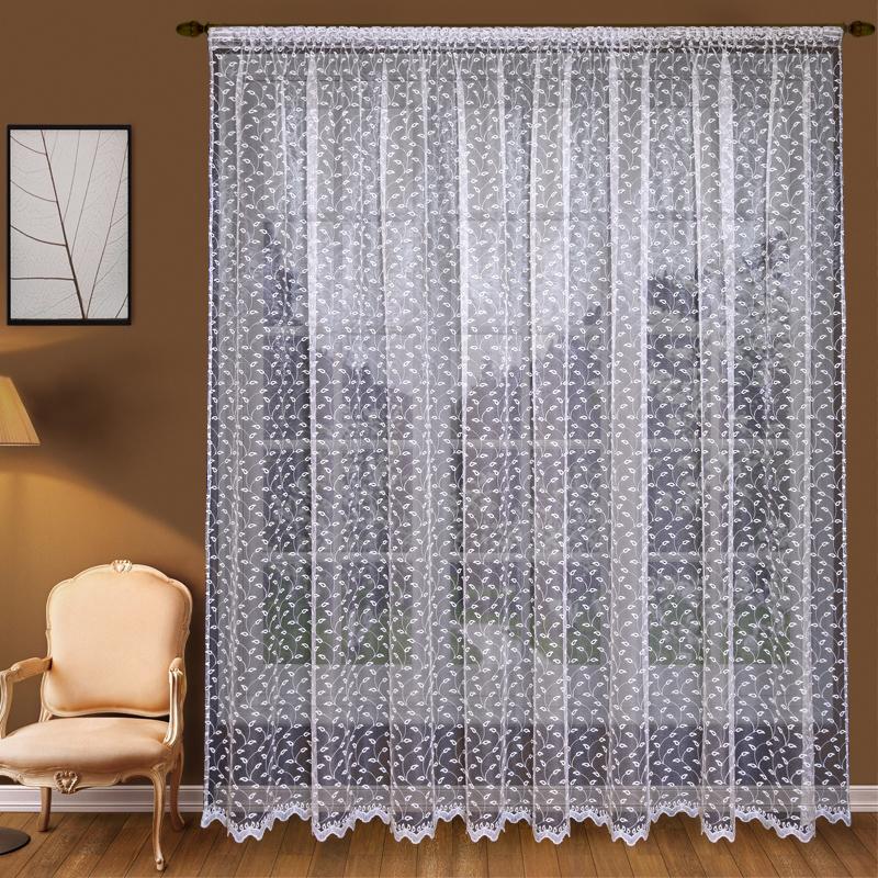 Шторы Elegante Классические шторы Молодые Побеги Цвет: Белый шторы tac классические шторы winx цвет персиковый 200x265 см