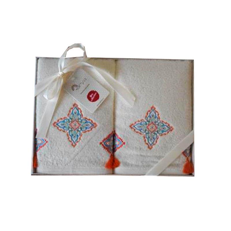 где купить Полотенца Arya Полотенце Fatima Цвет: Экрю (50х90 см - 2 шт) по лучшей цене