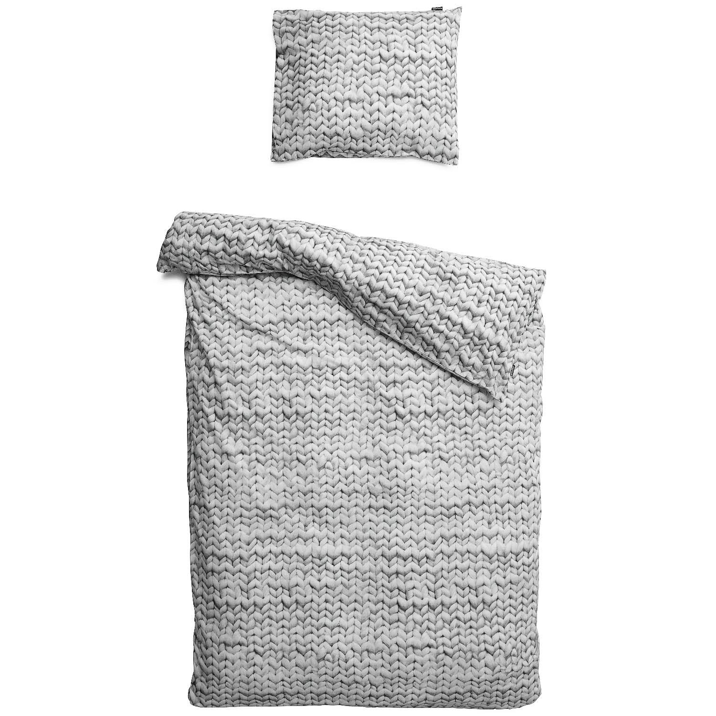 Пододеяльники Snurk Пододеяльник Косичка Цвет: Серый (150х200 см)