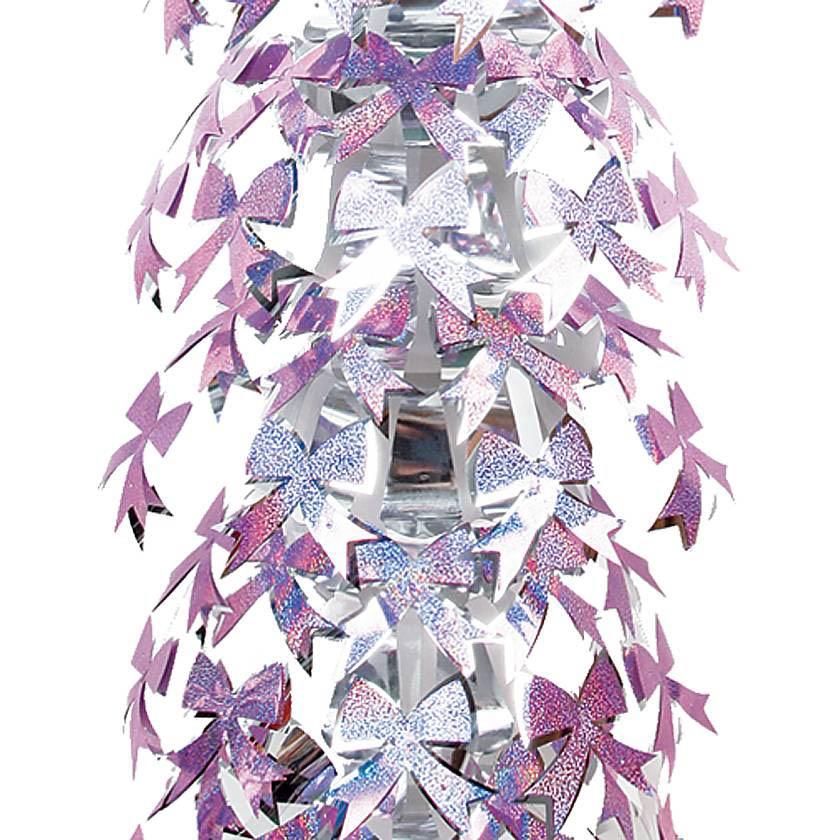 {}  Гирлянда Бантики Цвет: Фиолетовый, Серебряный (27х185 см) щетка для посуды фэйт шарлиз цвет фиолетовый длина 27 см