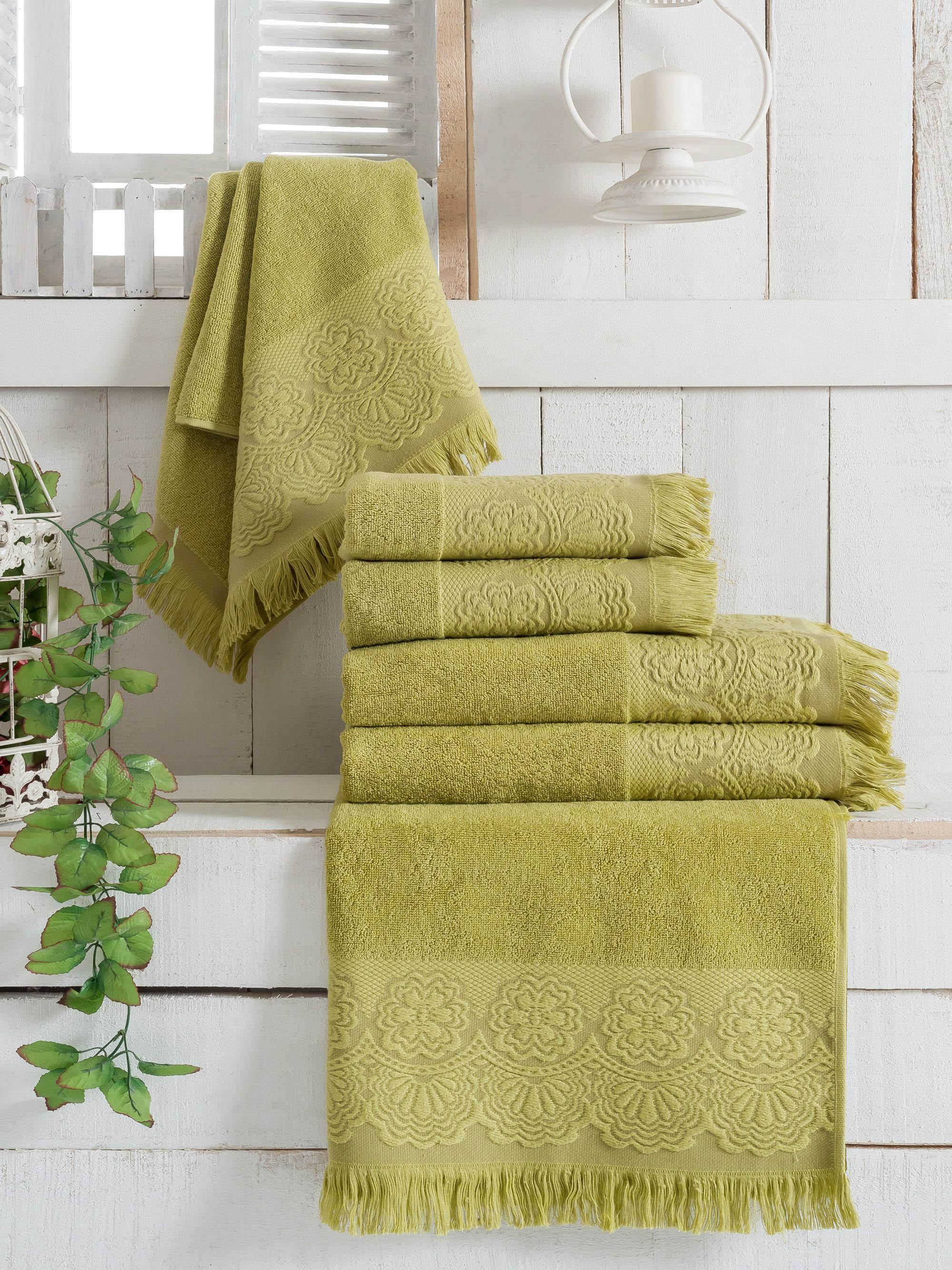 Полотенца Sokuculer Полотенце Zara Цвет: Зеленый (50х90 см - 3 шт) полотенца банные spasilk полотенце 3 шт