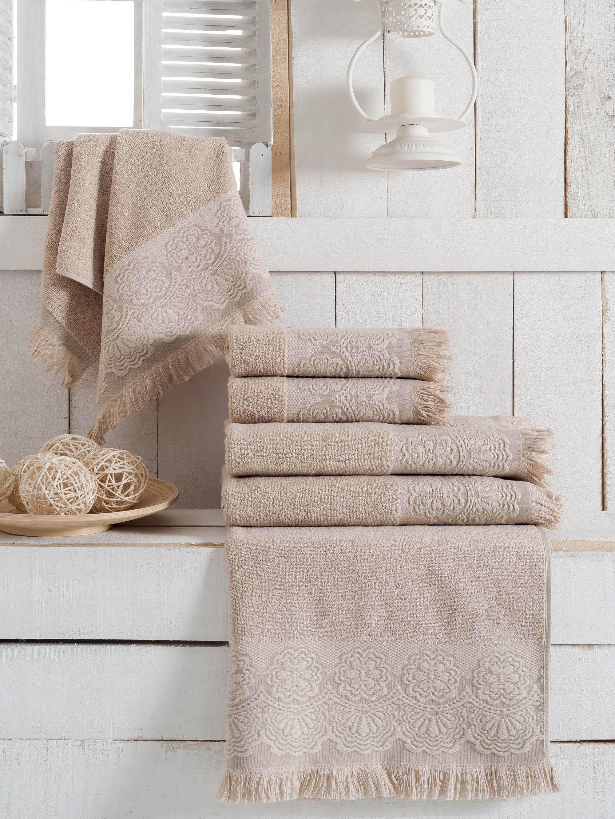 Полотенца Sokuculer Полотенце Zara Цвет: Молочный (70х140 см - 3 шт) полотенца банные spasilk полотенце 3 шт