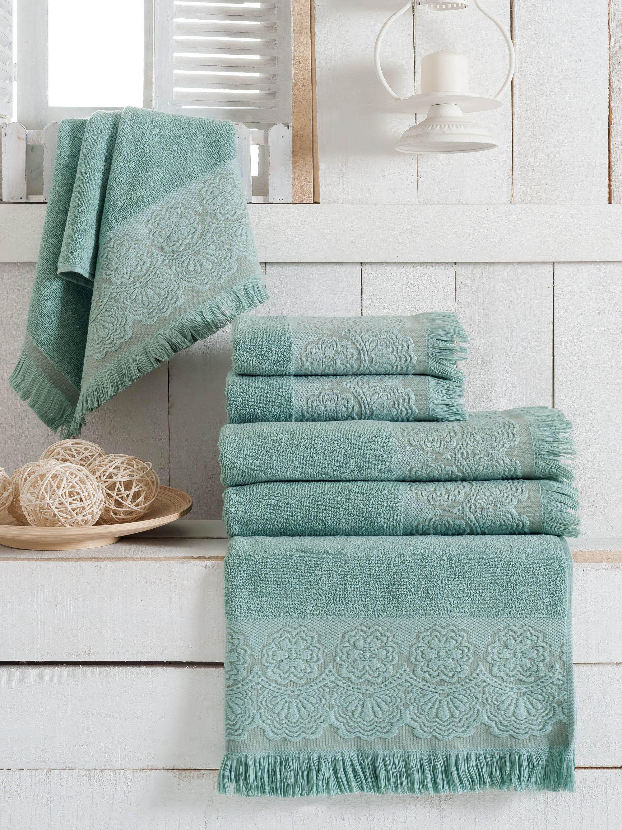 Полотенца Sokuculer Полотенце Zara Цвет: Мятный (70х140 см - 3 шт) полотенца банные spasilk полотенце 3 шт