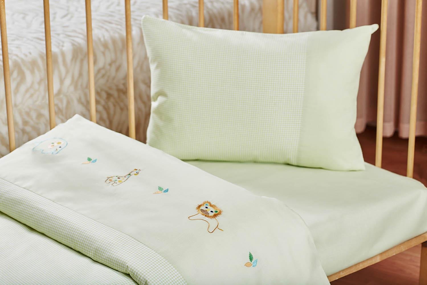 Детское Постельное белье Primavelle Детское Постельное белье Zoo Цвет: Зеленый (115х145 см)