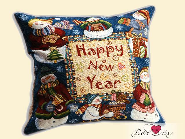 Декоративные подушки Мток Декоративная наволочка Снеговики (50х50) брус 50х50 в набережных челнах
