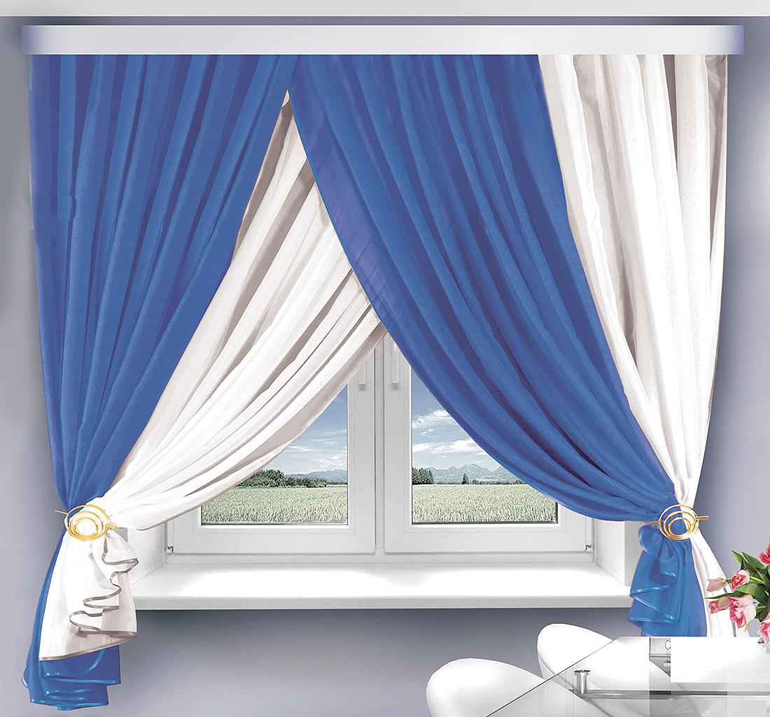 Шторы Велес Скрещенные шторы Тиффани Цвет: Сине-Белый велес велес шторы с ламбрекеном скарлет