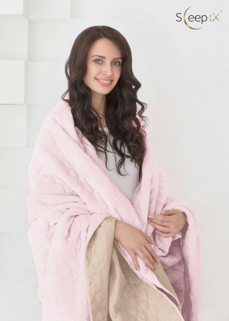 {} Sleep iX Одеяло-покрывало Multi Blanket Цвет: Светло-Бежевый/Нежно-Розовый (200х220 см)