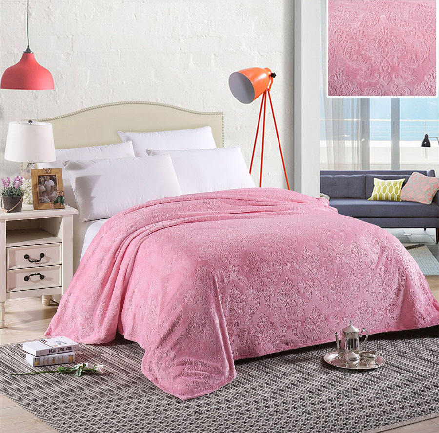 Плед HONGDA TEXTILE Плед Вензель Цвет: Розовый (150х200 см) плед hongda textile плед вензель цвет вишнёвый 150х200 см