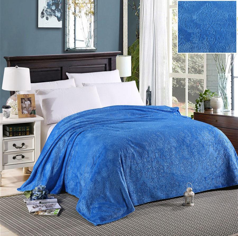 Плед HONGDA TEXTILE Плед Вензель Цвет: Голубой (150х200 см) плед hongda textile плед вензель цвет вишнёвый 150х200 см
