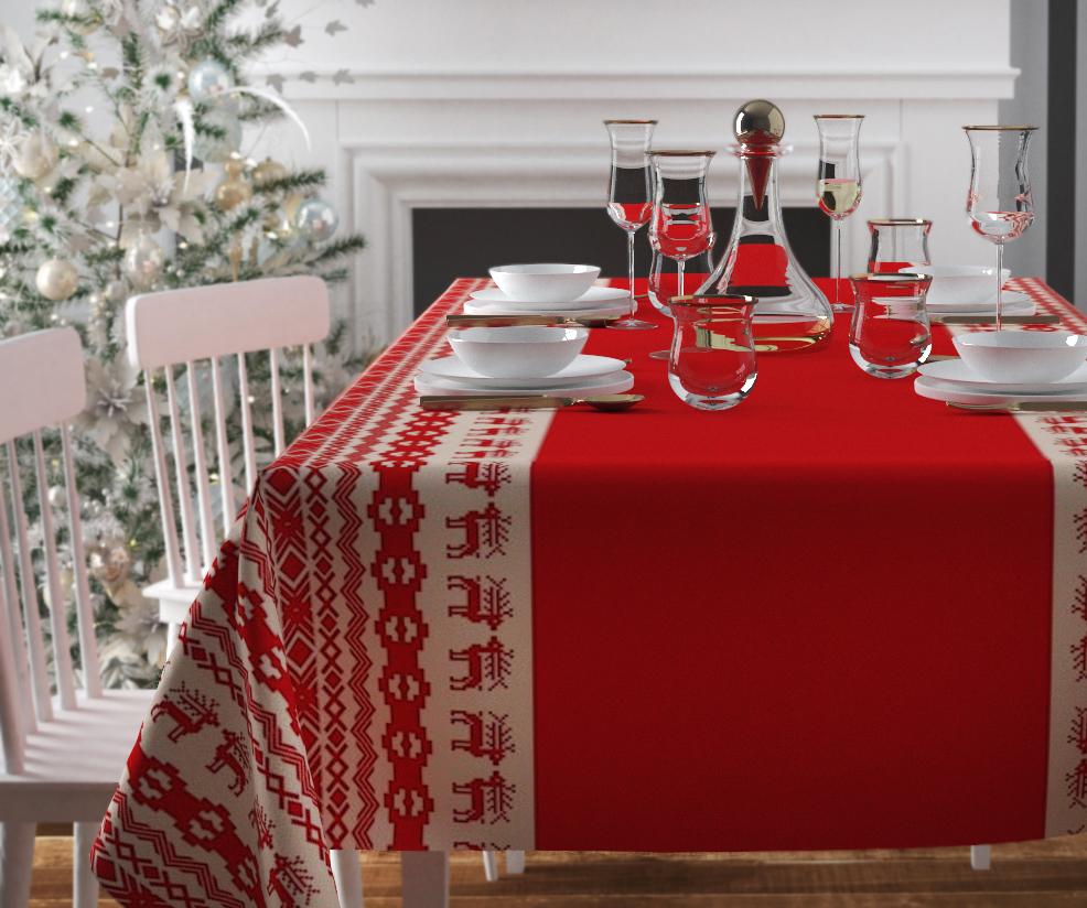 Скатерти и салфетки Сирень Скатерть Рождественский Узор (120х145 см)