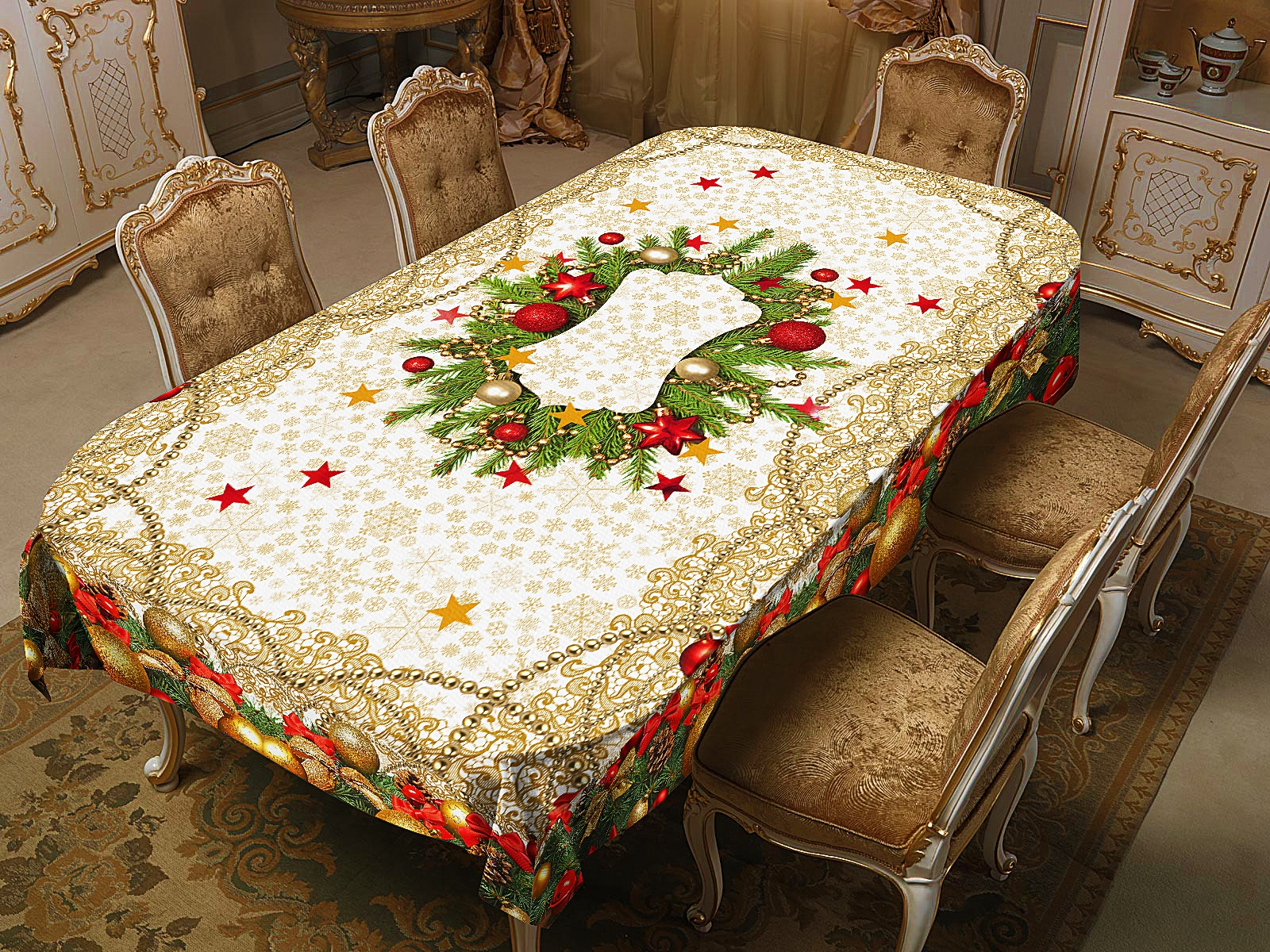 Скатерти и салфетки Elegante Скатерть Самобранка (120х150 см)