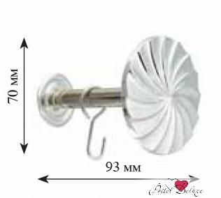 Карнизы и аксессуары для штор ARCODORO Розетка Волны Цвет: Серебро карнизы