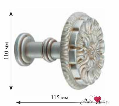 Карнизы и аксессуары для штор ARCODORO Розетка Орнамент Цвет: Серебро карнизы