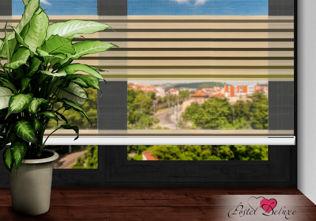 Римские и рулонные шторы Arya Рулонные шторы RoyaЦвет: Полосатый(Бежево-Зеленый) (120х200)