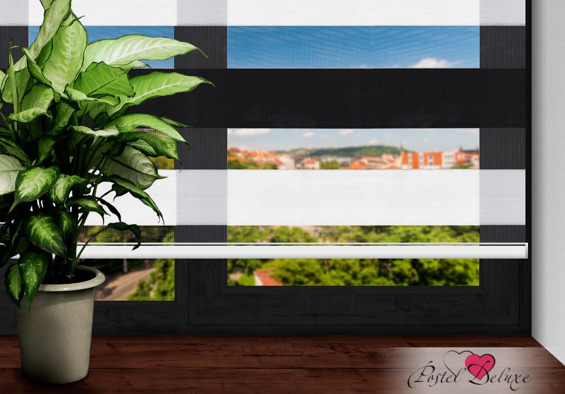 Римские и рулонные шторы Arya Рулонные шторы BarcelonaЦвет: Черный, Белый (60х200)