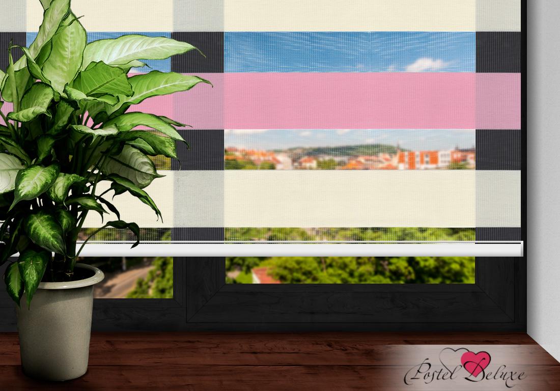 Римские и рулонные шторы Arya Рулонные шторы BarcelonaЦвет: Розовый, Айвори (60х200)