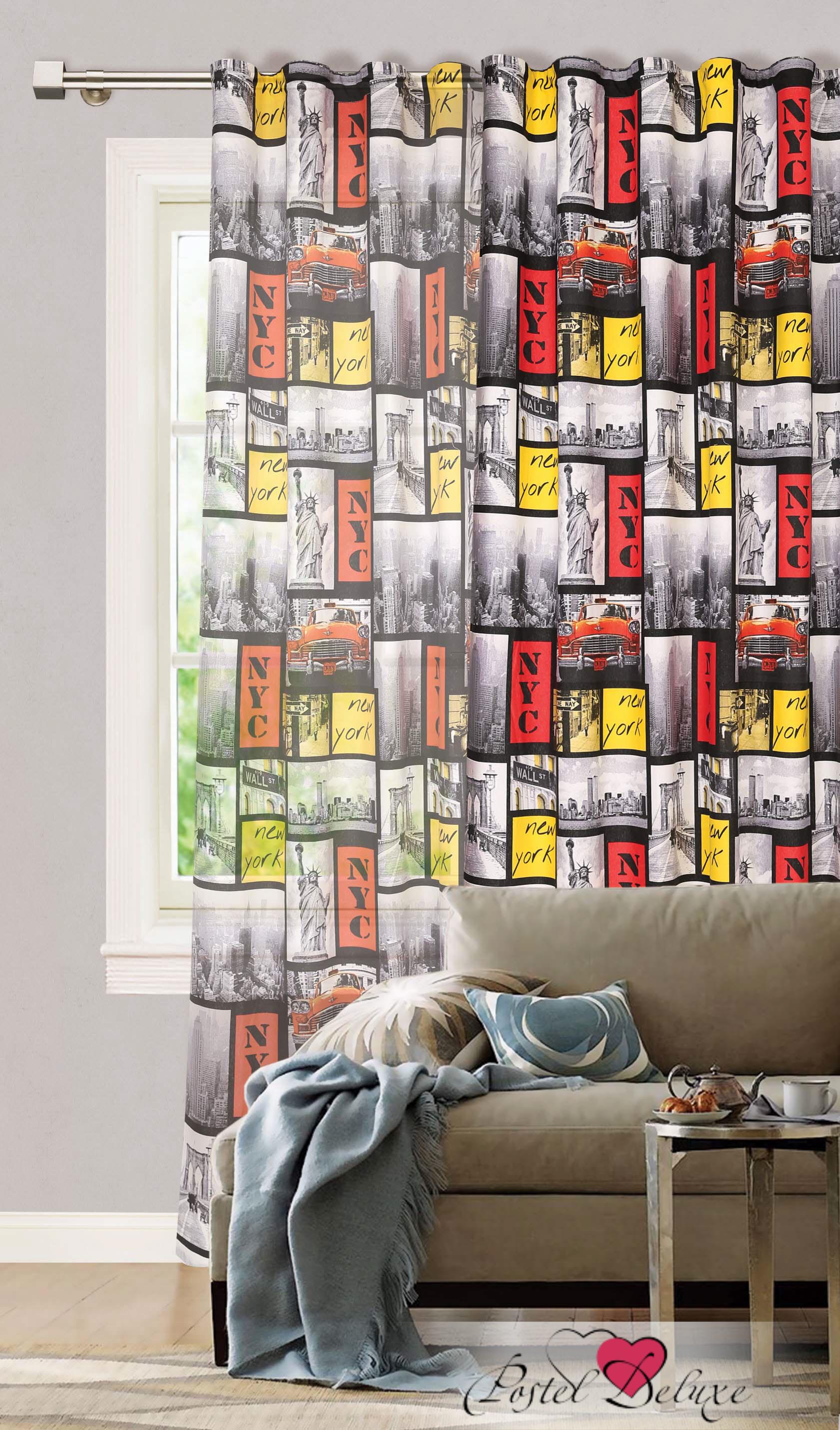 Шторы Garden Классические шторы New York Цвет: Серо-Красный портьеры garden шторы