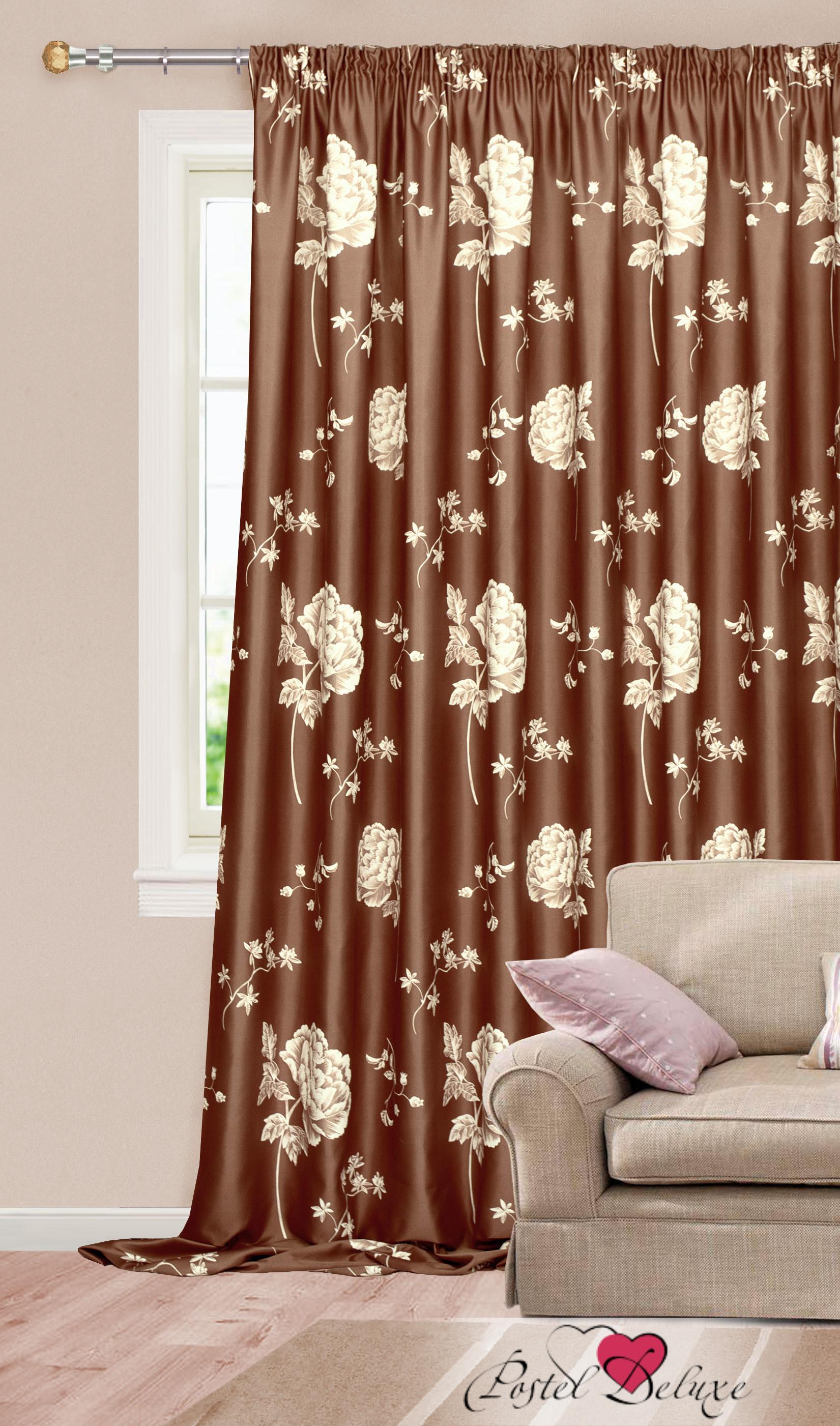 Шторы Garden Классические шторы Нежные Розы Цвет: Коричневый портьеры garden шторы