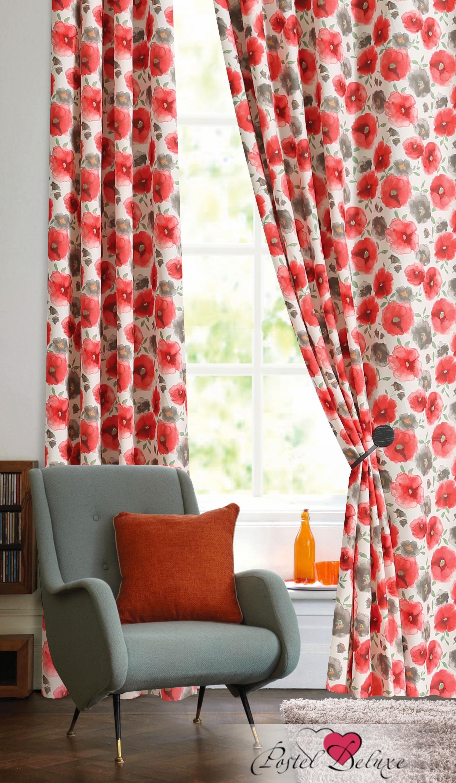Шторы Garden Классические шторы Фиалка Цвет: Алый шторы tac классические шторы winx цвет персиковый 200x265 см