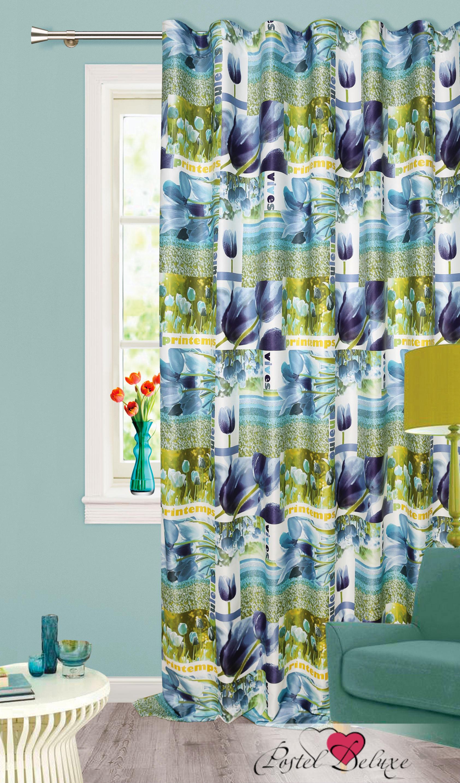 Шторы Garden Классические шторы Тюльпаны Цвет: Синий шторы tac классические шторы winx цвет персиковый 200x265 см