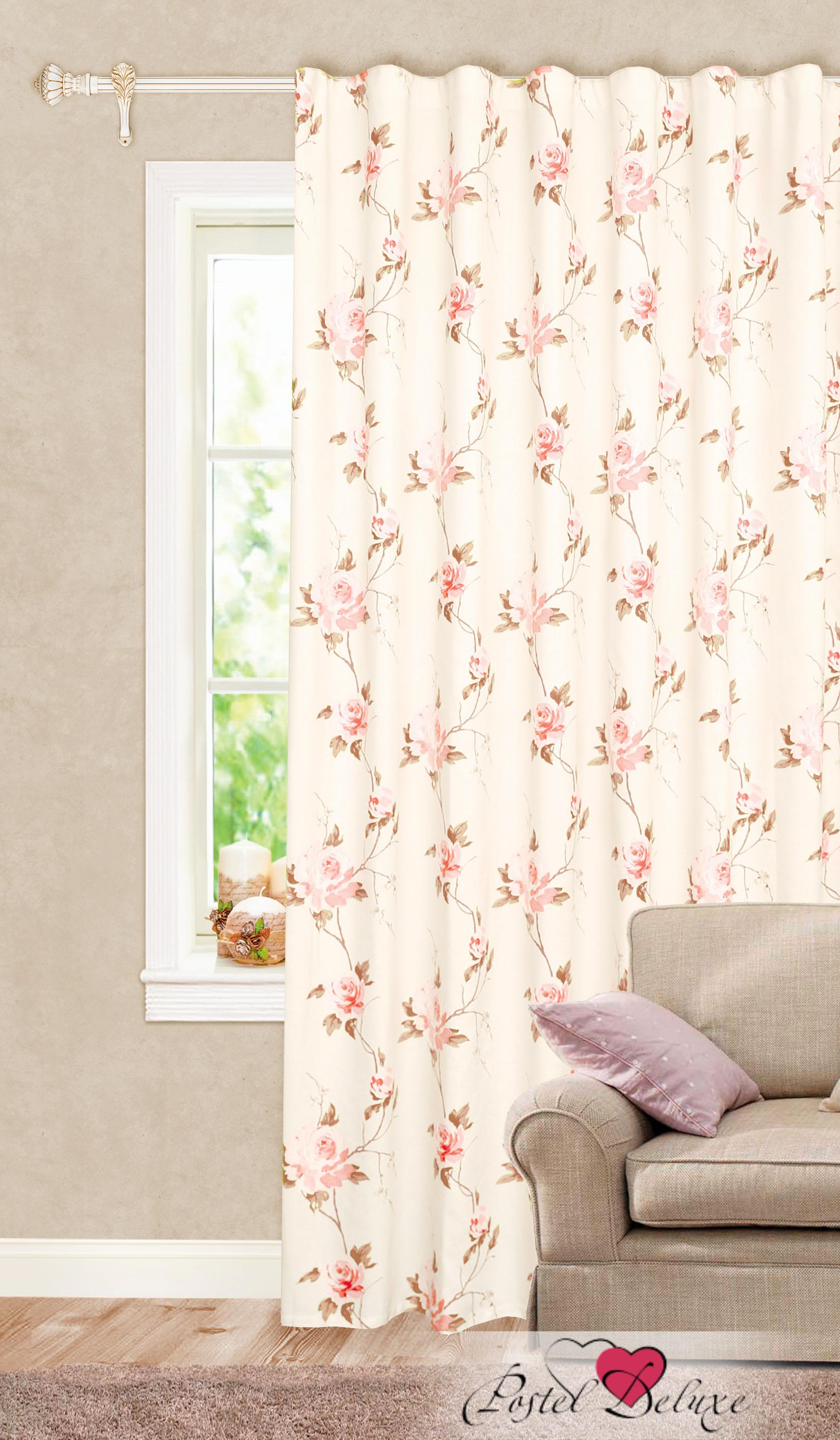 Шторы Garden Классические шторы Розовые Кусты Цвет: Персиковый портьеры garden шторы