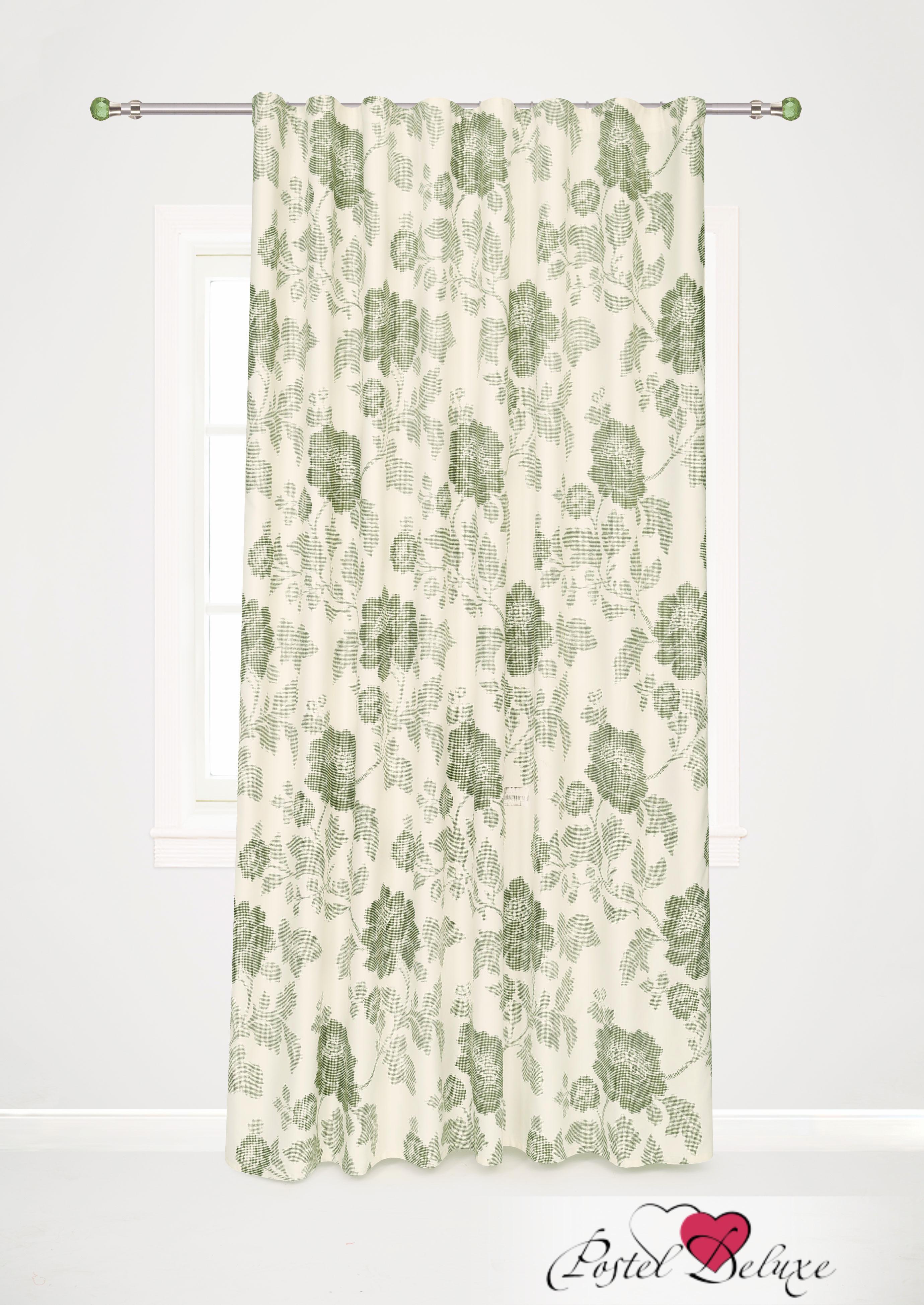 Шторы Garden Классические шторы Пионы Цвет: Зеленый портьеры garden шторы