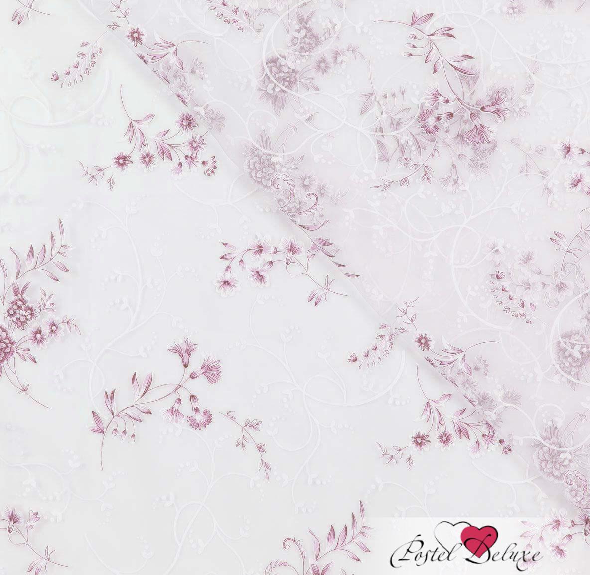 Шторы Garden Классические шторы Букетики Цвет: Бело-Розовый шторы tac классические шторы глянец цвет портьер розовый цвет тюля белый с бежевой полоской