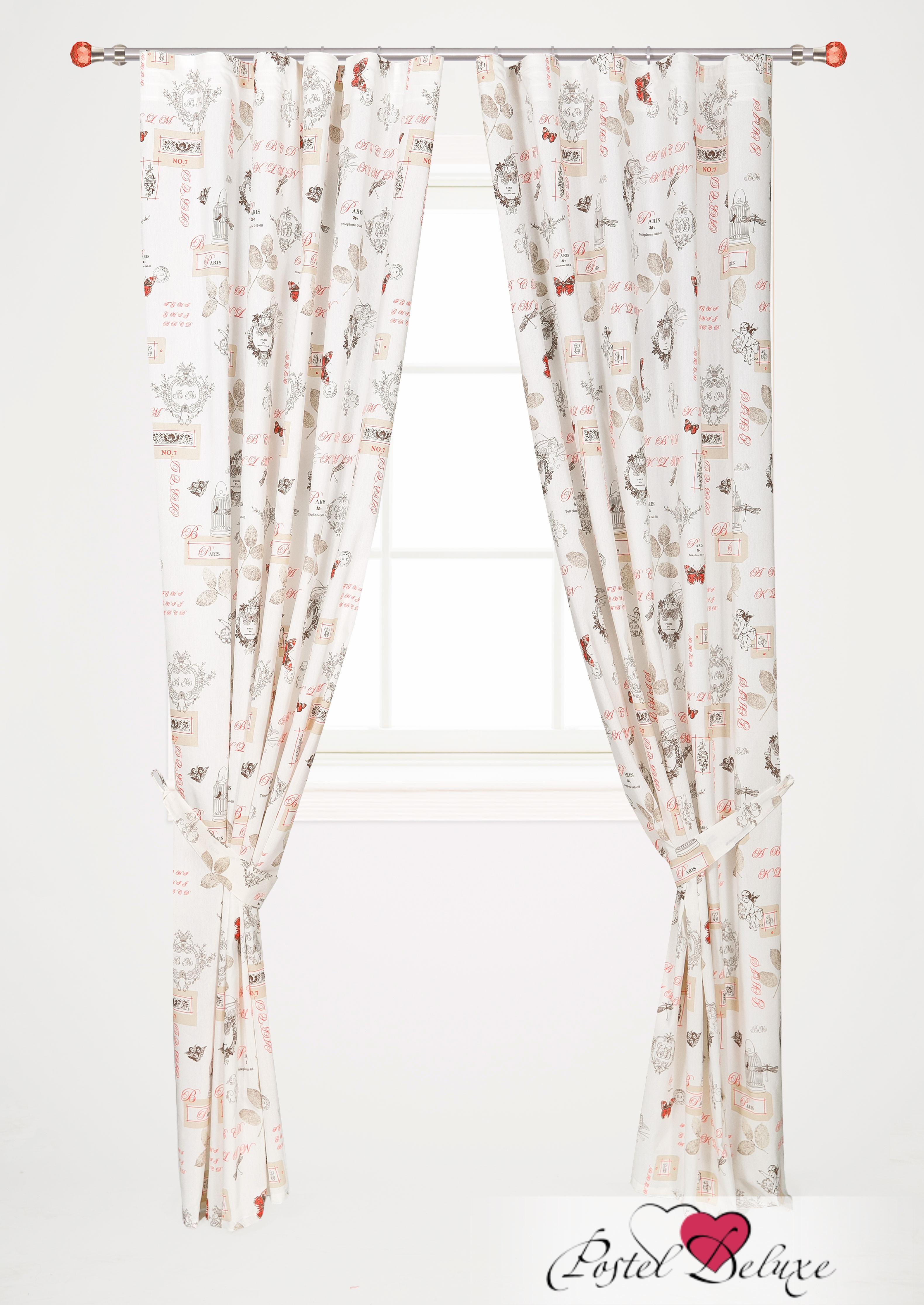 Шторы Garden Классические шторы Пастораль Цвет: Бежево-Красный шторы tac классические шторы winx цвет персиковый 200x265 см