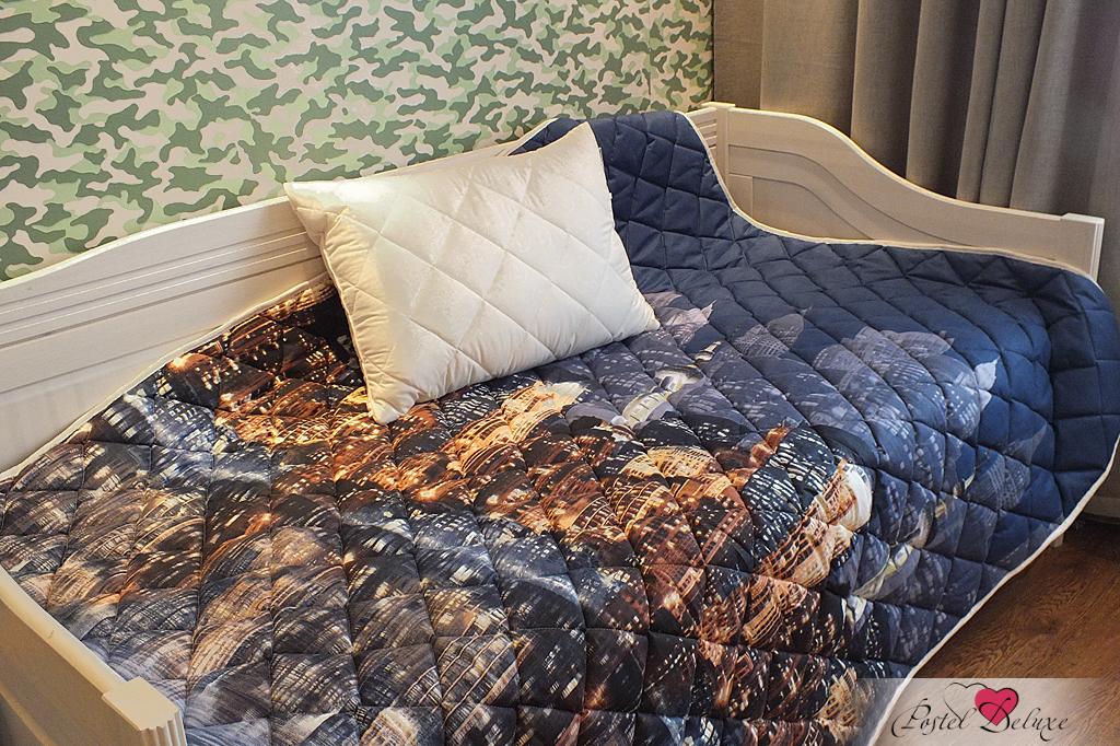 {} Nature'S Комплект из одеяла-покрывала и стеганой подушки Вечерний город (160х210 см)