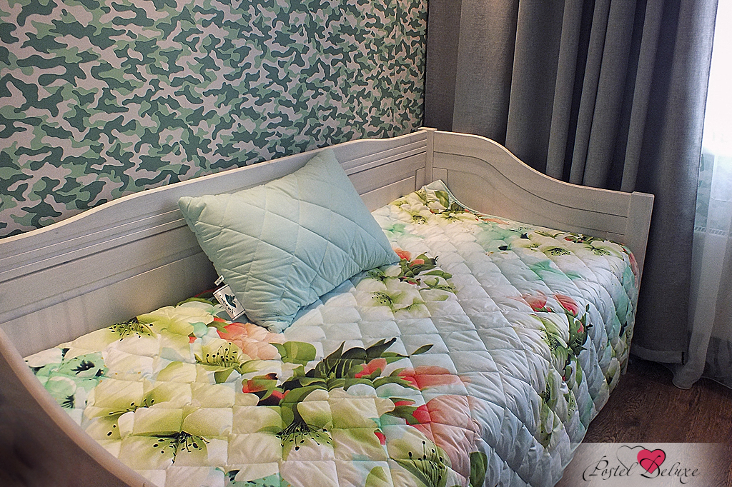 {} Nature'S Комплект из одеяла-покрывала и стеганой подушки Яркие цветы (160х210 см)