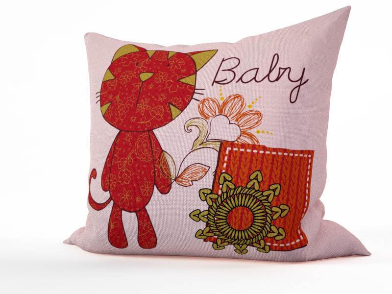 Декоративные подушки StickButik Декоративная подушка Цветочный Котик (45х45)