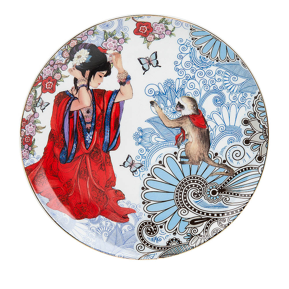 {} Polystar Тарелка декоративная Японские мотивы (круглая 19 см) polystar кружка романс 310 мл