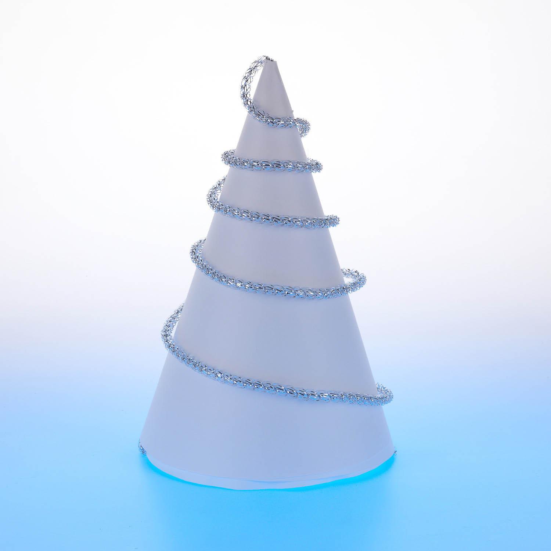 {} Мишура Бусинка (200 см - 10 шт) мишура новогодняя eurohouse праздничная цвет сиреневый серебристый диаметр 9 см длина 200 см