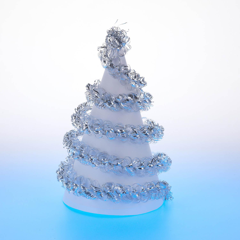{} Мишура Спираль (200 см - 10 шт) мишура новогодняя eurohouse праздничная цвет сиреневый серебристый диаметр 9 см длина 200 см