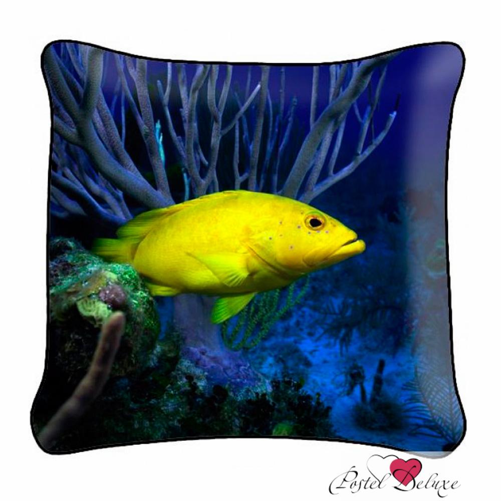 Декоративные подушки Fototende Декоративная подушка Желтая Рыбка (45х45) декоративные подушки оранжевый кот подушка игрушка рыбка