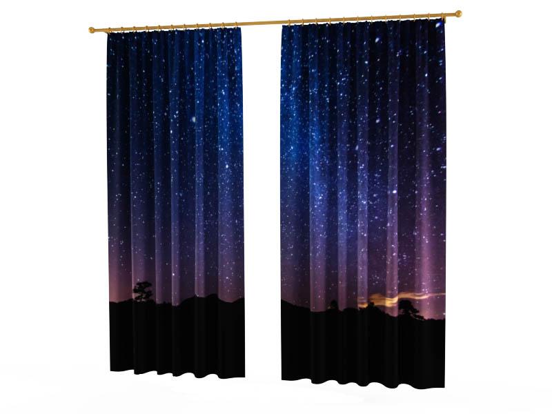 Шторы StickButik Фотошторы Ночное Звездное Небо брюки котмаркот штанишки звездное небо