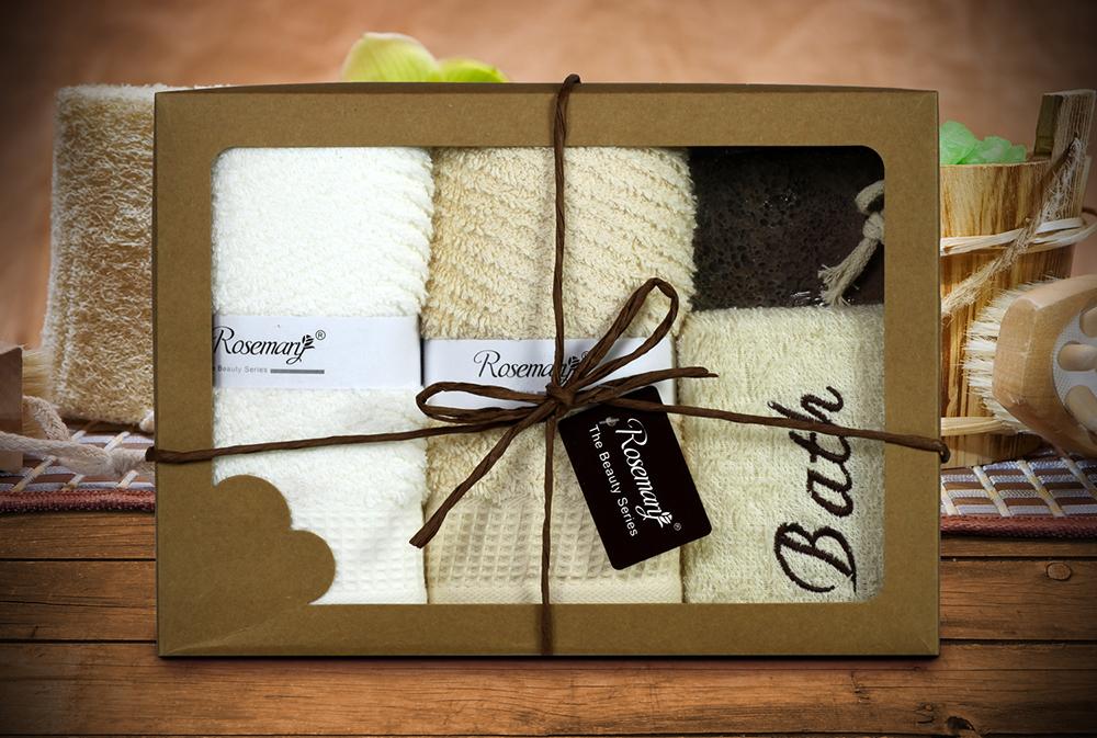 {} Tango Набор для ванной Thyrza Цвет: Белый, Бежевый (Набор) полотенца tango полотенце merrill 75х150 см
