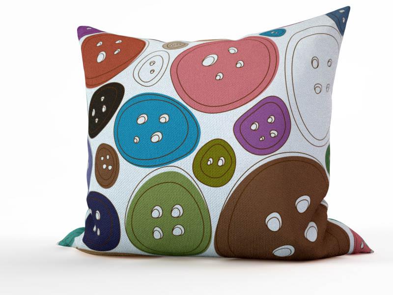 Декоративные подушки StickButik Декоративная подушка Пуговка (45х45) мария агапова пуговка на траве