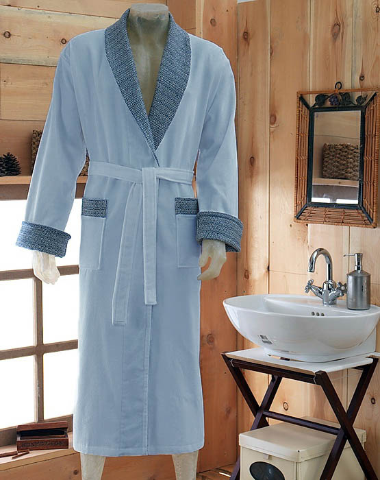 Сауны, бани и оборудование Virginia Secret Халат Bamboo Цвет: Синий (хL)