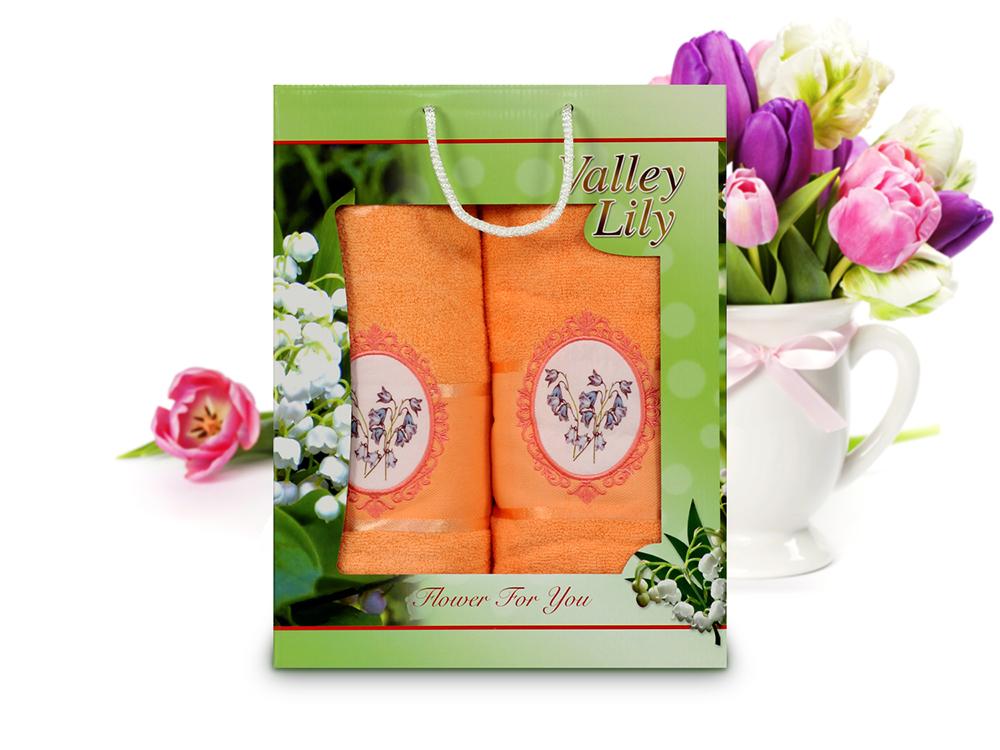 Полотенца Gulcan Полотенце Valley Цвет: Оранжевый (Набор) набор из 3 полотенец merzuka sakura 50х90 2 70х140 8432 оранжевый