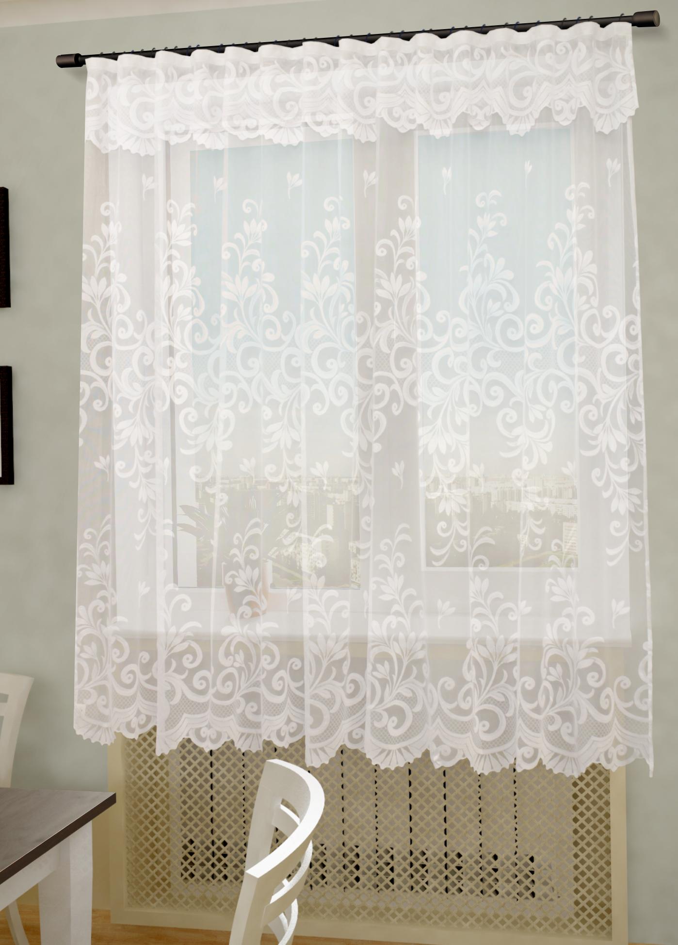 Шторы Sanpa Шторы с ламбрекеном Адисон Цвет: Белый как тюль на окно