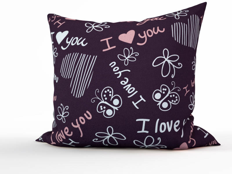Декоративные подушки StickButik Декоративная подушка Фиолетовая Любовь (45х45)