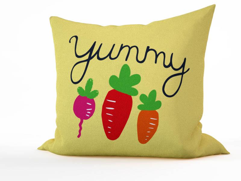 Декоративные подушки StickButik Декоративная подушка Вкусные Морковки (45х45)