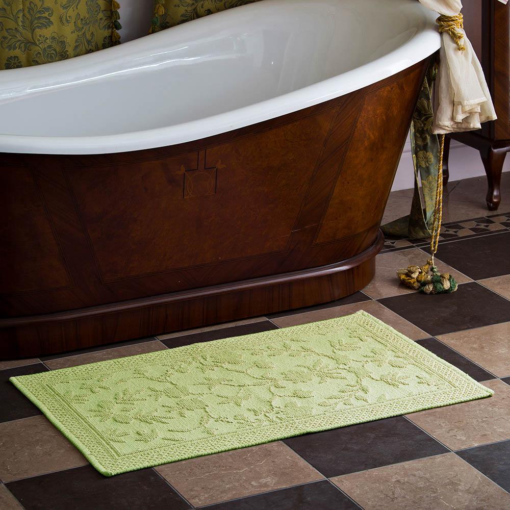 Аксессуары для ванной и туалета Arloni Коврик для ванной Кармен Цвет: Зеленый (60х90 см) arloni коврик кармен ваниль 100% хл 60 90